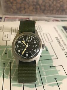 Hamilton 1983 issued US military men's watch, collectible H3 Radium, Ref 46374B
