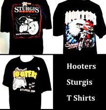6 Hooters Uniform T-Shirt Sturgis 2 Fatboy & 2 Owl XXL 2 Bald Eagle USA Flag XL