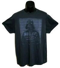 VTG Junk Food Darth Vader Black Line Up T Tee Shirt Star Wars Cotton Blend Sz L