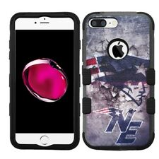for iPhone 8 Plus Rugged Rubber+Hard Hybrid Case New England Patriots #M