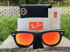 New Ray-Ban New Wayfarer RB2140 901/69 Black Sunglasses Orange Mirror Lens 50mm