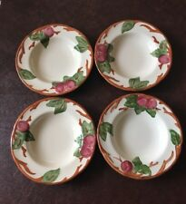 Franciscan Apple Made In England Set Of 4 Rim Soup Bowls. Excellent Condition