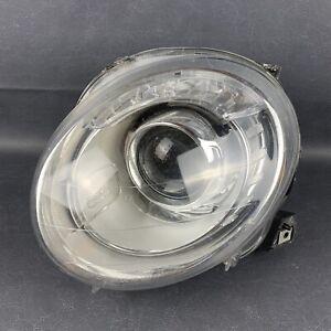 2012-2017 Fiat 500 LH Front Left Driver Headlight Headlamp Halogen Damaged OEM