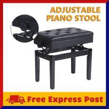 Adjustable Height Leather Single Lift Piano Stool Elastic Folding Chair Seat BG