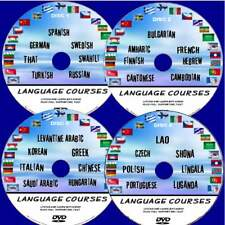 28 GREAT LANGUAGE COURSES ON PC DVD's SIMPLE TO LEARN LESSONS AUDIO AND TEXT NEW