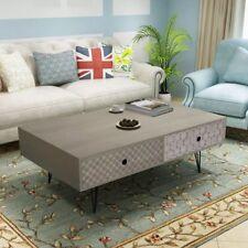 vidaXL Coffee Table 100x60x35cm Grey Drawer Side End Living Room Home Decor