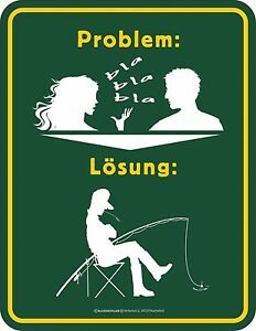 Metal Sign Problem Solution Fishing Fisher Sign