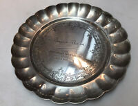 Silver Plate Margaret Thatcher Commemorative Small Tray