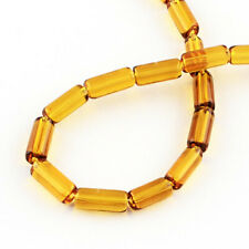 30 Glass Beads Tubular Shaped 10mm x 4mm 12 Inch Strand - Bd1070
