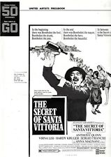 THE SECRET OF SANTA VITTORIA pressbook, Anthony Quinn, Virna Lisi --PLUS POSTER-