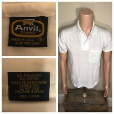 Vintage Anvil Brand Polo Pocket T-shirt Deadstock small 50/50 paper thin 80s NOS