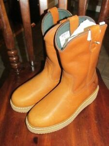 "Georgia Boots Farm & Ranch Wellington Work Boot Size 8W G5153 10"" Wedge"