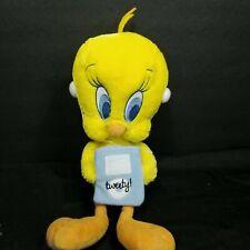 "Looney Tunes Tweety Bird Plush 11"" Holding Mp3 or Ipod Earphones Stuffed Animal"