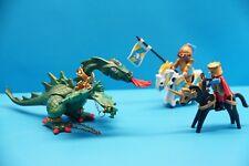 Playmobil Drachenritter mit grüner Drachen 3840 & Ritter mit Pferd (J798