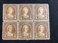 us stamps scott 556 Pane Of 6 MNH Partial Gum Lot 3