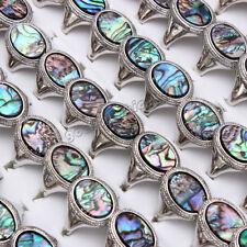 Natural Abalone Shell Rings 20pcs/lot Wholesale Women's Rings Mixed Size