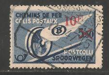 Belgium #Q298 (Pp19) Vf Used - 1946 10fr on 5.50fr Winged Wheel