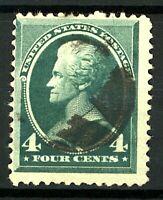USA 1882 4c green Jackson sg214 cv£30+ (1v) VFU Stamp