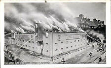 Brighton. The Great Fire at Abbey's Brewery 1907 by Watford Engraving Co.