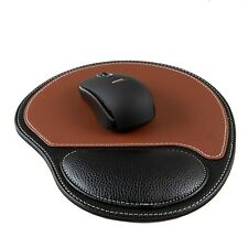 Mouse Pad, Ergonomic Mouse Pad with Cushion Wrist Rest Support, PU Leather