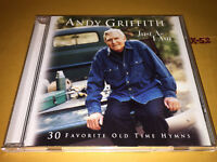 ANDY GRIFFITH Just As I Am CD 30 favorite Old Time Hymns hits