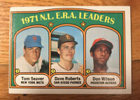 1972 TOPPS BASEBALL CARD # 91 National League ERA Leaders  VG