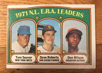 1972 TOPPS BASEBALL CARD # 91 National League ERA Leaders  VG