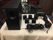 BOSE ACOUSTIMASS 6 SERIES II SPEAKER SYSTEM  5 CUBE SPEAKERS SUBWOOFER BLACK