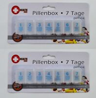 2 x 7 Tage Pillenbox Pillendose Tablettendose Tablettenbox Medikamente Pille