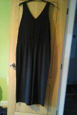 anne taylor/ loft. ladies jumpsuit black   size xl petite new