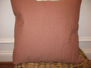 Calvin Klein Melrose Copper Petals Square deco pillow NWT