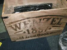 NEW WENZEL CAST IRON BOXED SET DUTCH OVEN SKILLET GRIDDLE LEATHER GLOVE  TRIVET