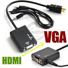 HDMI to VGA 3.5mm Jack Cable Adapter Signal Converter Digital to Analogue wniu