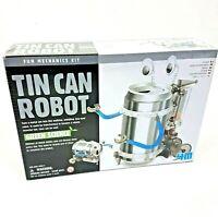 Green Science Tin Can Robot - Fun Mechanics Science Kit, Brand New & Sealed