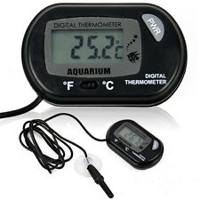 LCD Digital Fish Reptile Aquarium Water Tank Thermometer Temperature New