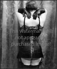 Old VINTAGE Antique SEXY CORSET Butt FLAPPER Photo Reprint