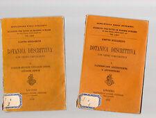 bitanica desritiva - giotto bizzarrini - 2 volumetti - 1905