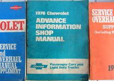 1976 CHEVROLET ADVANCE INFORMATION SHOP MANUAL PASSAGERS + LIGHT DUTY TRUCK