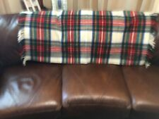 JAMES PRINGLE Comfydown Authentic Tartan Pure Wool Fringe Throw Blanket 33x47