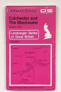 Vintage Ordnance Survey Map 168 Colchester & The Blackwater 1:50,000 dated 1982