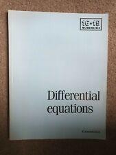 Differential equations,  Cambridge university press,  1992 1st ed