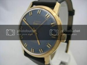 NOS NEW SWISS MADE GOLD PLATED AUTOMATIC MEN'S GALCO WATCH 1960'S