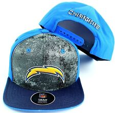 """Chargers Cap Hat Youth Boys NFL Chargers """"Magna"""" Flatbrim Snapback 1 Size"""