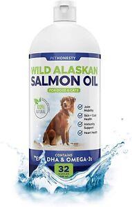 Pet Honesty Wild Alaskan Salmon Oil Omega 3 & Natural EPA + DHA Dogs & Cats 32oz