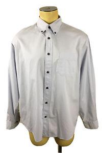 Austin Clothing Co. Light Gray Button Down Long Sleeve Dress Shirt Men's Size XL