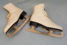 vintage size 6 white ice skates MK sheffield steel blades