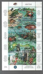 Venezuela: 1998; Scott 1592, sheet 10, Expo98 Lisboa thematic Flora+fauna VZ0919