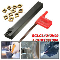 SCLCL1212H09 Lathe Cutter Turning Tool with 10Pcs CCMT09T304 Carbide Insert