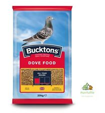 20KG BUCKTONS DOVE FOOD Pigeon Wheat Maize Rapeseed Red Dari Barley Linseed Mix