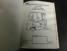 Yale GC GLC 030BF GC GLC 030-040 AF Forklift Service Maintenance Manual  1596